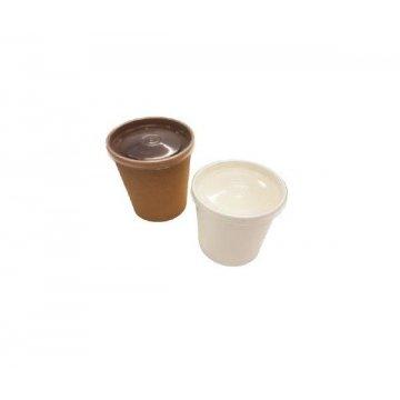 Упаковка DoEco d-70мм, h-85мм, 340мл ECO SOUP 12W ECONOM, для супа, белая с пласт. кр. 250 шт/кор