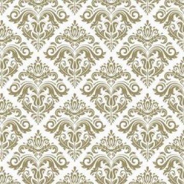 Салфетки 40х40см, золотой орнамент-1, airlaid 12 шт/уп 12 упак/ кор