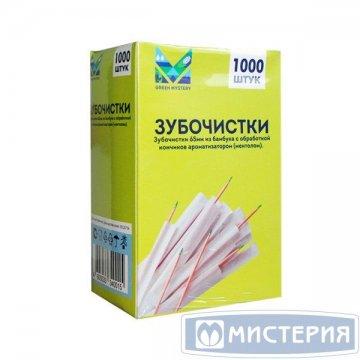 Зубочистки 65 мм с ментолом., бамбук в инд. ПП уп.1000 шт/упак 1 000 шт/уп 30 уп/кор