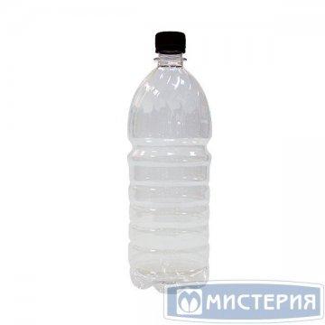 ПЭТ бутылка, прозрачн., 1,0 л,  h 245 мм,  d 84,5 мм, с крышкой 100 шт./уп. 100 шт./кор.