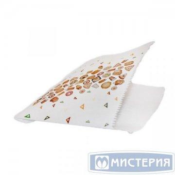 Уголок для гамбургеров,150х150 мм,белый, рис.Рог изобилия,жиростойкий пергамент 2500шт/уп 2500шт/кор