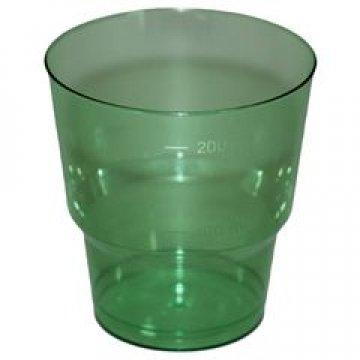 Стакан д/хол. 0,20л, кристалл, ПС, зеленый 50 шт/уп 1000 шт/кор