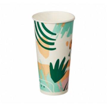 Стакан 400мл однослойный Гавайи для холодных напитков в асс. 55шт/уп 1100шт/кор