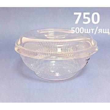 Салатник пластиковый 750мл. 1*50шт. 1/1 300шт/кор