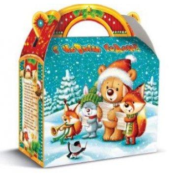 1300 г. 220х90х195 Коробка из картона Новогодний лес (120)