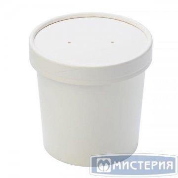 Упаковка DoEco d-90мм, h-110мм, 760мл ECO SOUP 26W, для супа, белая 25 шт/упак 250 шт/кор Do ECO