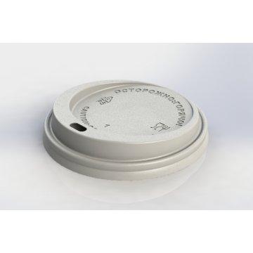 Крышка с питейником 90 мм КД-202 белая (1200шт/кор)