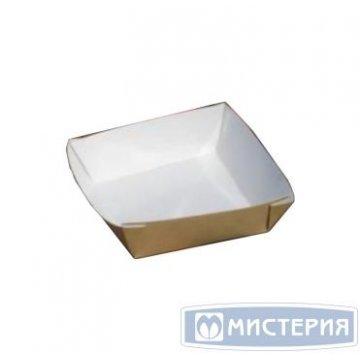 Упаковка для бургера, картофеля фри, чиабатты, 550мл, 110х110х42мм, коричн., картон 300 шт./кор