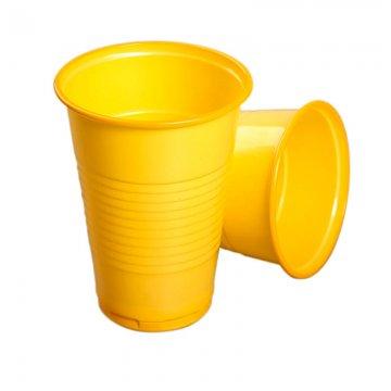 Стакан 0,2л желтый 100шт.в прозрачной пленке без стикера 4000шт/кор