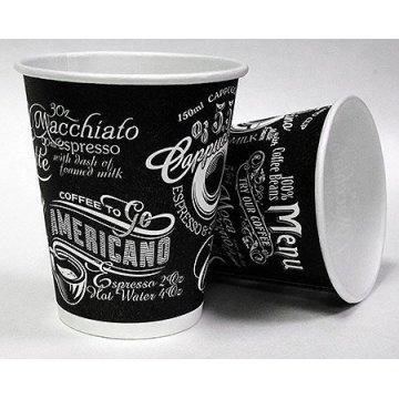 200/250мл Стакан бумажный дизайн Меню (50шт/уп) Д80мм (50/1250)