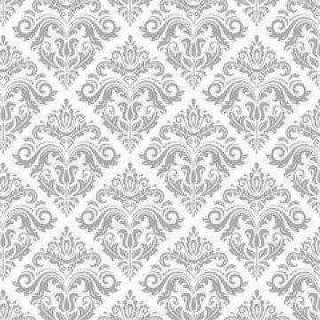 Салфетки 40х40см, серебряный орнамент-1, airlaid 12 шт/уп 12 упак/ кор