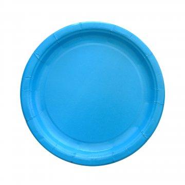 Тарелка бум. 230мм Blue (IP500) 500шт/кор