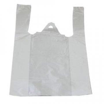 Пакет майка 25+12х45см,  ПНД, белая, 10мкм  100  шт/уп 5000 шт/кор