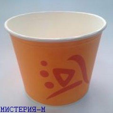 Ведро д/попкорна, 2,5л, кругл., жёлто-оранж., картон 50шт/уп 200 шт./кор