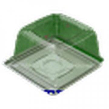 Контейнеры одноразовые пластиковые упаковочные УК-264НБ, ППС, коричневая, ПЩ