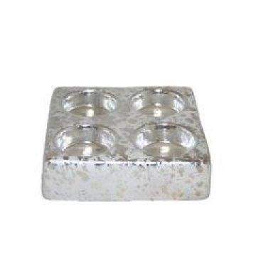369015 Подсвечник для 4-ех чайных свечей Квадрат, 6шт/уп