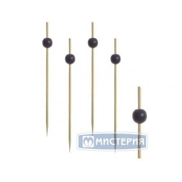 Пика 120мм, Черная жемчужина, бамбук 100 шт/уп 40 уп/кор